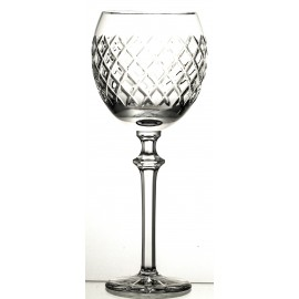 Crystal Red Wine and Water Glass