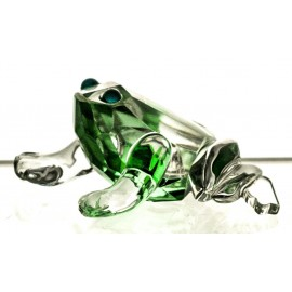 Crystal Figurine Paperweight Frog