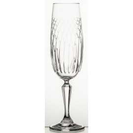 Crystal Champagne Glasses Linea Set of 6