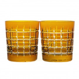 Crystal Coloured Whisky Glasses Set of 2