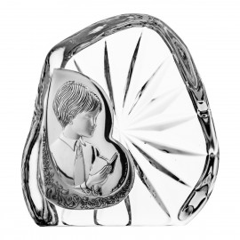 Crystal Paperweight with Praying Boy 7335