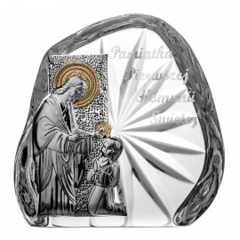 Crystal Paperweight for First Holy Communion 3405