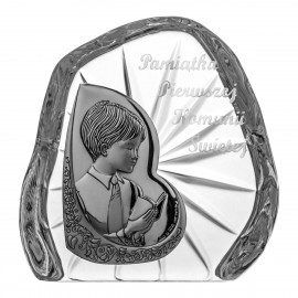 Crystal Paperweight with Praying Boy 3336