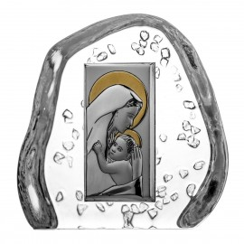 Crystal Paperweight with Mary and Baby Jesus 3133