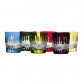 Crystal Painted Whisky Glasses, Set of 6