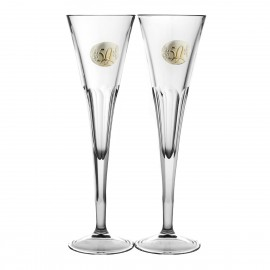 50th Wedding Anniversary Crystal Champagne Glasses, Set of 2 05849