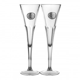 25th Wedding Anniversary Crystal Champagne Glasses, Set of 2 05861