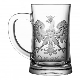 Engraved Crystal Beer Mug 05953