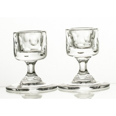 Crystal Candlesticks, Set of 2