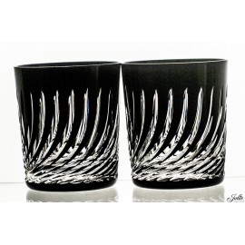 Crystal Painted Whisky Glasses Set of 2