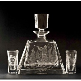Crystal Vodka Decanter and Glasses Set 2602