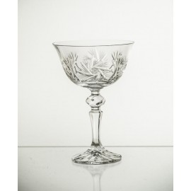 Set of crystal champagne glasses, 6 pcs- 2085