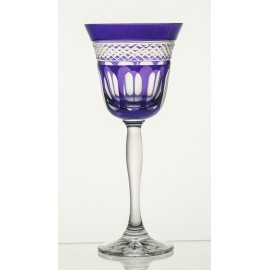 Painted Red Wine Glasses, Set of 6 7427