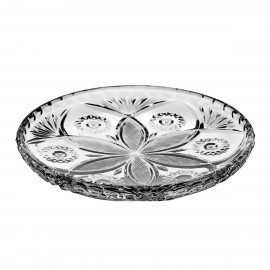 Crystal Dessert Plates, Set of 6 0002