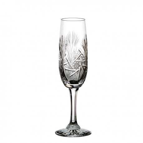 Set of crystal champagne glasses, 6 pcs - 0826