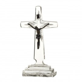 Crystal cross with Jesus Christ 21cm -1417-