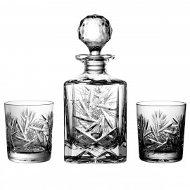 Set of crystal decanter and 6 whisky glasses - 2117 -