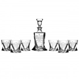 Engraver set of decanter and 6 whisky glasses - 2775 -