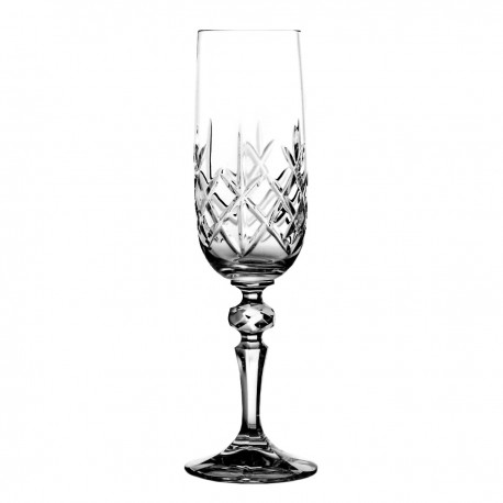 Set of crystal champagne glasses 6 pcs - 2921