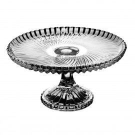 Crystal footed cake plate 19 cm - 2987 -