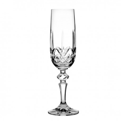 Set of crystal champagne glasses, 6 pcs -3592