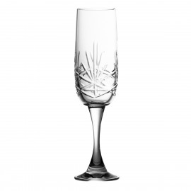 Set of crystal champagne glasses 180 ml, 6 pcs - 3760