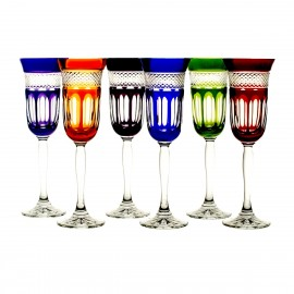 Painted Champagne Glasses, Set of 6 4866