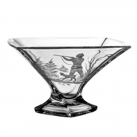 Engraved Fruitbowl with Hunting Motif 5041