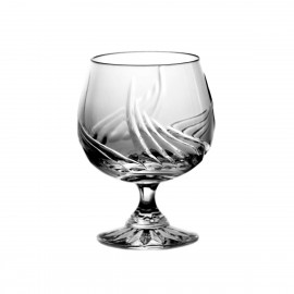 Set of crystal cognac glasses, 6 pcs -5796-