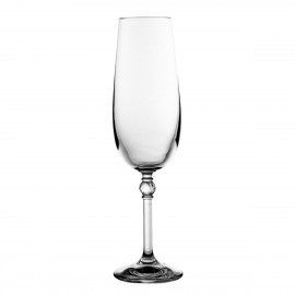 Crystal Champagne Glasses, Set of 6 8403