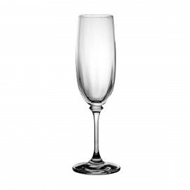 Set of crystal champagne glasses, 6 pcs - 9540 -