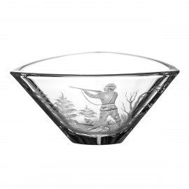 Engraved Fruitbowl with Hunting Motif 5044