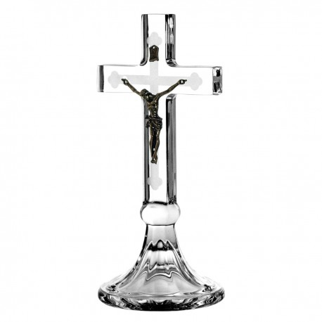 Crystal cross with Jesus Christ 20 cm - 1076-