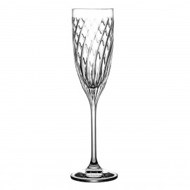 Crystal Champagne Glasses Linea, Set of 6 4394
