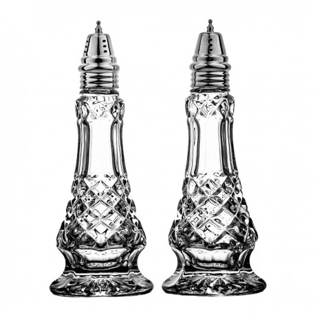 Set of crystal salt and pepper containers 19,5 cm -3869-