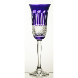 Painted Crystal Champagne Glasses, Set of 6 9573