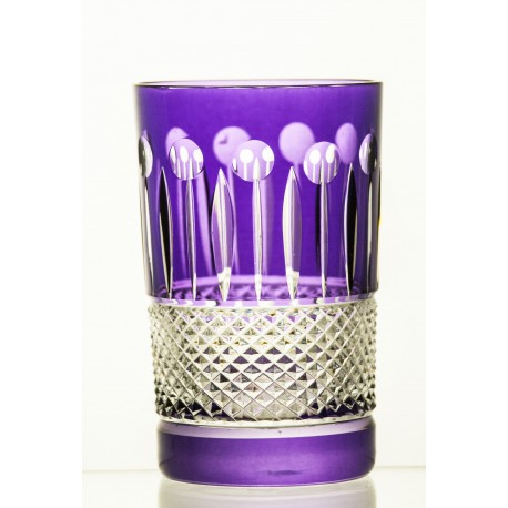 Set of painted crystal juice, water glasses 150 ml, 6 pcs - 2649