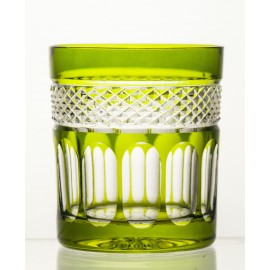 Crystal Painted Whisky Glasses, Set of 6 8347