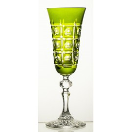 Painted Crystal Champagne Glasses, Set of 6 6293