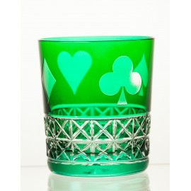 Crystal Painted Whisky Glasses, Set of 6 7155