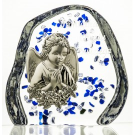 Crystal Paperweight with Angel 2569