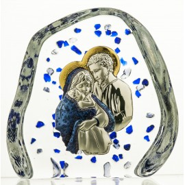 Crystal Paperweight with Holy Family 2774