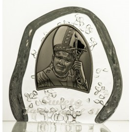Crystal Paperweight with John Paul II 3976