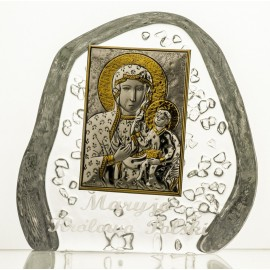 Crystal Paperweight with Mary and Baby Jesus 3553