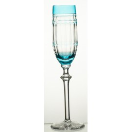 Painted Crystal Champagne Glasses, Set of 6 6432