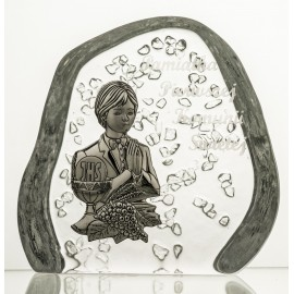Crystal Paperweight with Praying Boy 3741