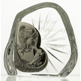 Crystal Paperweight with Praying Girl 7331