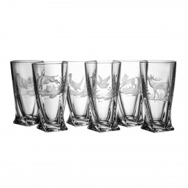 Engraved Long Drink Glasses, Set of 6 2819