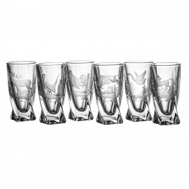 Engraved Vodka Glasses, Set of 6 5330