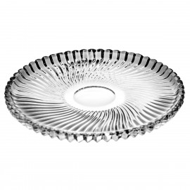 Crystal Dessert Plates Linea, Set of 6 8544
